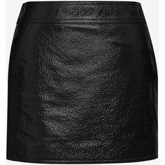 Saint Laurent Trapeze Mini Skirt (3.645 BRL) ❤ liked on Polyvore featuring skirts, mini skirts, yves saint laurent skirt, yves saint laurent, mini skirt, short skirts and patent skirt