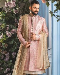 African Print Wedding Dress, Wedding Dresses Men Indian, Simple Wedding Gowns, Indian Bridal Fashion, Punjabi Wedding, Backless Wedding, Indian Weddings, Sherwani For Men Wedding, Sherwani Groom