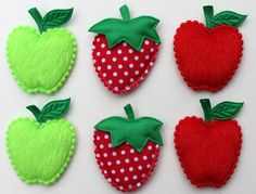Hey, I found this really awesome Etsy listing at https://www.etsy.com/listing/158566952/apple-and-strawberry-appliques-for