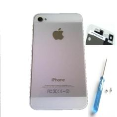 iPhone 4- 5er Optik Glas weiss,Akkudeckel /Backcover / - Deutscher Händler