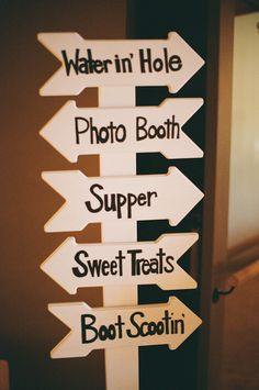 Wedding directory sign.