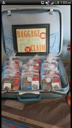 Put party favors in vintage suitcase (baggage claim) Airplane Party Favors, Vintage Airplane Party, Vintage Airplanes, Disney Planes Party, Disney Planes Birthday, 3rd Birthday Parties, Boy Birthday, Birthday Ideas, Time Flies Birthday