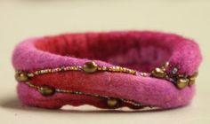 DIY Felted Rope Bracelet Inspiration