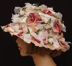 vintage Easter bonnets | Vintage 1960s Flower Hat // Pastel Colors // Easter Bonnet