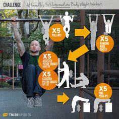 Al Kavadlo 5x5 Intermediate Calisthenics Challenge