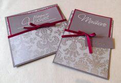 Hochzeitseinladung und Menükarte Pallazzo. Einfach selber machen und ...