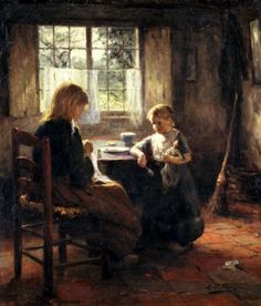 Evert Pieters (1856 – 1932, Dutch)  The Sisters