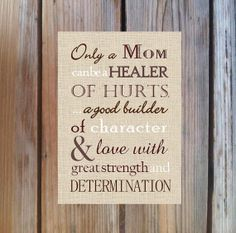 MOM GIFT Only a Mom Poem Print  Typography Wall by PoppyseedPrints, $10.00