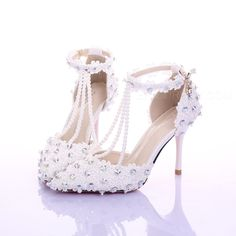 Ericdress Gorgeous Ankle Strap Pointed-toe Wedding Shoes Wedding Shoes