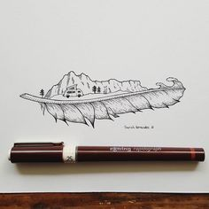 Spent last weekend in my mini campervan. Amazing experience and the view in the morning.... So here is a feather drawing with a campervan at the sea. Hope you all have a great summer so far. . . . #illustration #drawing #ink #nature #feather #wanderlust #camping #hiking #adventure #linework #art #iblackwork #artlovers #sketchbook #instaart #artwork #creative #sketch_daily #artistic_share #art_we_inspire #illustrationoftheday #artistworkout #linedrawing #art #artstagram #instaartexplorer…