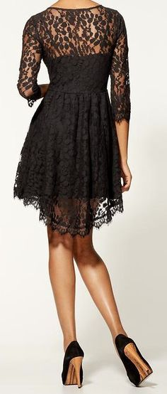 Lace floral dress. this is so adorable i cant even handle it