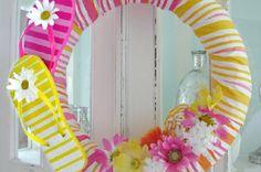Flip Flop Wreath.....Comment fabriquer une couronne flip-flops ! | Trucs et Bricolages