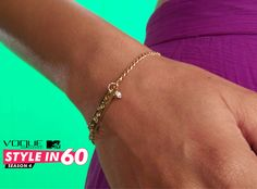 Pleated skirts are very feminine. Wear a petite thin gold string bracelet with pleated skirt and blouse. Less is more. For more style tips, watch Vogue Eyewear MTV #Stylein60: mtvindia.com/style
