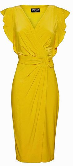 Debenhams Collection: Our 50 Fave Fashion Picks - Yellow Dresses - Ideas of Yellow Dresses - Debenhams Ossie Clarke Yellow Dress this will do quit nicely for the wedding I think! Pretty Dresses, Beautiful Dresses, Gorgeous Dress, Yellow Bridesmaid Dresses, Yellow Fashion, Mellow Yellow, Color Yellow, Yellow Dress, Dress Me Up