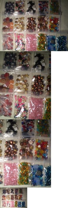 Glass Czech Glass 164375: 500 Grams Bulk Czech Firepolished Assorted Glass Seeds Beads Huge Lot 16 Items -> BUY IT NOW ONLY: $50 on eBay!