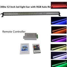 26 best halo ring led light bar images on pinterest led light bars straight colormorph light bar with halo ring inside for off road lamp jeep atv suv utv truckit can flash 12 colors by remote controller aloadofball Choice Image