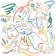 jordy van den nieuwendijk / lacoste l! Color Lines, Interactive Design, Picasso, Love Art, Painting Inspiration, Art Direction, Coloring Books, Design Art, Digital Prints