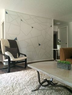 This Accent Wall Idea Is So Much Cooler Than Herringbone