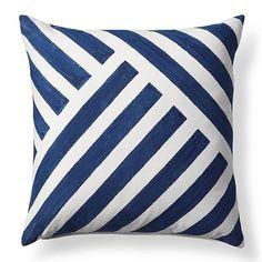 Linework Cobalt Outdoor Pillow