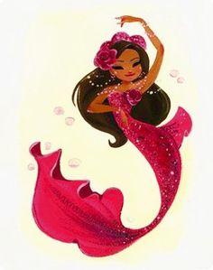 Flamenco dancer mermaid