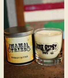 Junk gypsy Mama Tried candle - whiskey butter scent