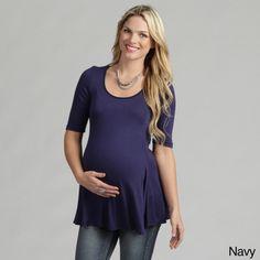 24/7 Comfort Apparel Women's Maternity 3/4-sleeve Tunic Overstock.com $24