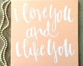 Hand-lettered canvases and prints by ADEprints on Etsy