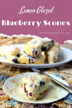 Frugal Food Items - How To Prepare Dinner And Luxuriate In Delightful Meals Without Having Shelling Out A Fortune Easy Lemon Blueberry Scones Recipe Is Buttery And Tender On The Inside With A Crispy Crust And A Tangy Lemon Glaze. Breakfast Dishes, Breakfast Recipes, Blueberry Scones Recipe, Brunch Recipes, Party Recipes, Quick Bread Recipes, Frugal Meals, Sweet Bread, Food Items