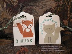 9-16 Tag Foxy Friends stampin up
