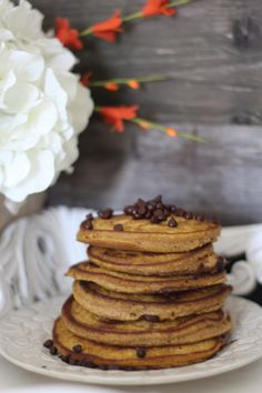 #paleo Pumpkin Chocolate Chip Pancakes (nut free) in the Best Paleo Recipes of 2014