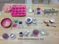 Resultado de imagen para montessori transferring activities