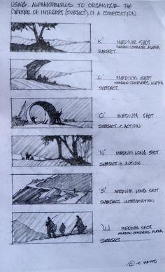 Robert Watts - Alphanumeric composition examples https://www.youtube.com/watch?v=2ZBZRGPs9FM