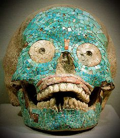 'This skull, found in the state of Oaxaca, belongs to the Zapotec culture. Traces have been found of the civilisation that are up to 2,500 years old'