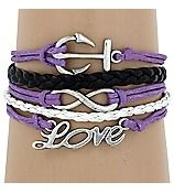Multi-Strand Infinity, Love, and Anchor Bracelet #ZA003  from All Things Country