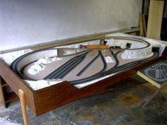 HO train for garage #modeltrainlayouts