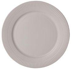 Living & Co Textured Dinner Plate White
