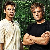First shot of Gale and Peeta for Hunger Games movie. <3