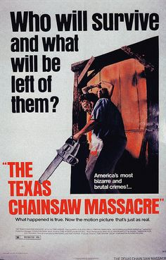 The Texas Chainsaw Massacre, dir. by Tobe Hooper (1974). The ultimate 'raw' primitive horror movie, with glorious raw cinematography too. Even has a couple of funny scenes.