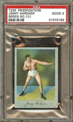 1910 t225 #prizefighters jimmy gardner #boxing card