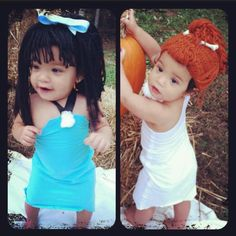 @Cierra Joiner how cute would this be for the girls?! lol! too. Twin Girl CostumesSister Halloween ...  sc 1 st  Pinterest & Flintstones - Halloween Costume Contest at Costume-Works.com ...