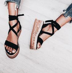 b2c25902982b Platform Lace Up Cork Bottom Sandals 4 Colors - Savage Garb