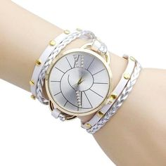Big Dial Women Bracelet Watch 2016 Fashion Hand Woven Ladies Dress Watch #LSIN