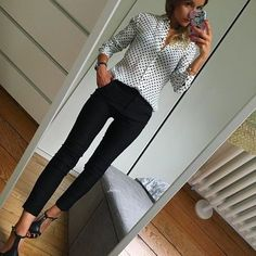 63 Ideas style work casual polka dots for 2019 Summer Work Outfits, Casual Work Outfits, Business Casual Outfits, Business Attire, Office Outfits, Work Casual, Business Fashion, Office Attire, Office Wear