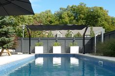 Whether poolside or over the pool, ShadeFX has you covered. Retractable Pool Cover, Retractable Shade, Retractable Pergola, Backyard Shade, Patio Shade, Backyard Patio Designs, Backyard Renovations, Shade Structure, Low Maintenance Garden