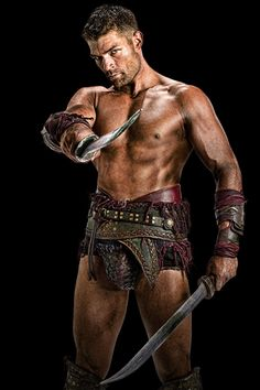 Spartacus - Liam McIntyre ....It has to be biological, females are attracted to the alpha males, to ensure the survival of the species, Cause men who can kick ass are hot!