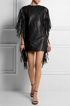 Leather Tassel Dress