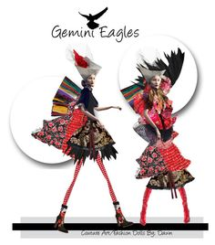 """""""Gemini Eagles"""" by dawn-lindenberg ❤ liked on Polyvore featuring art"""