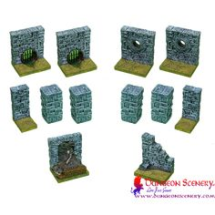 Dungeon Scenery is modular terrain for board games, wargames, RPG, D&D Dungeon Tiles, Female Fighter, The Expanse, Dungeons And Dragons, Saga, Board Games, Markers, Scenery, Crafting