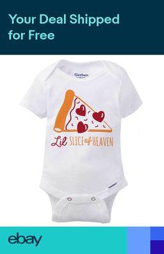 264670031 Lil Slice of Heaven Gerber Onesie   Pizza Pie Lover Cute Birth Baby Romper