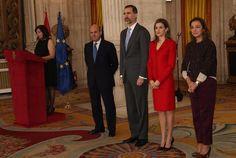 Queen Letizia of attends the 2014 Investigation National Awards ceremony